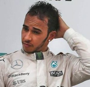 Lewis Hamilton after hair transplant (2014)