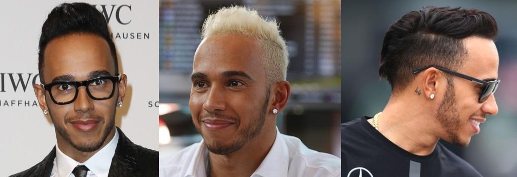 Lewis Hamilton hairstyles