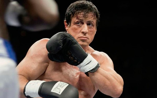 Sylvester Stallone after hair transplant