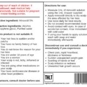 Minoxidil 5% label back
