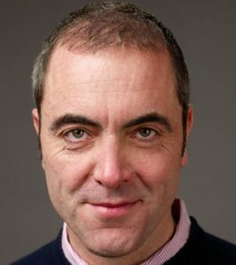 James Nesbitt after first hair transplant