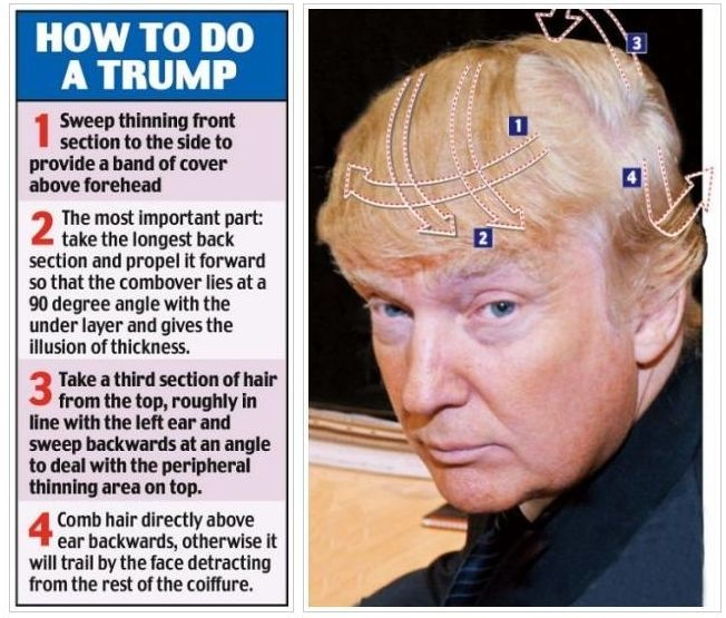 Donald Trump hairstyle instructions