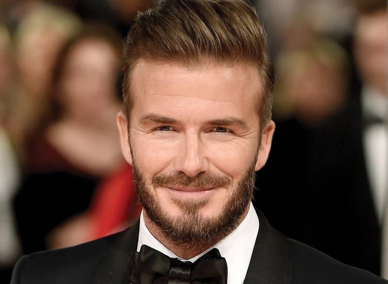 David Beckham hair 2018