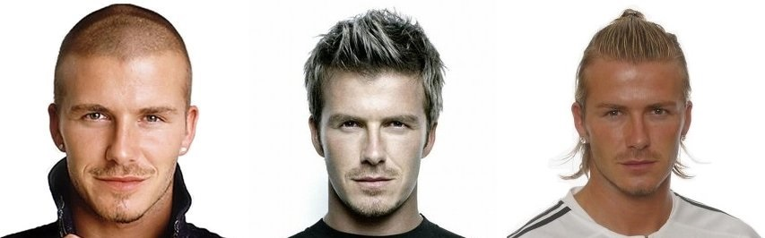 David Beckham hair over time