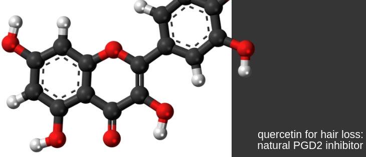 Quercetin hair loss pgd2 inhibitor
