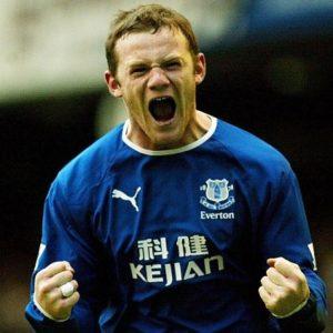 Young Wayne Rooney before hair loss