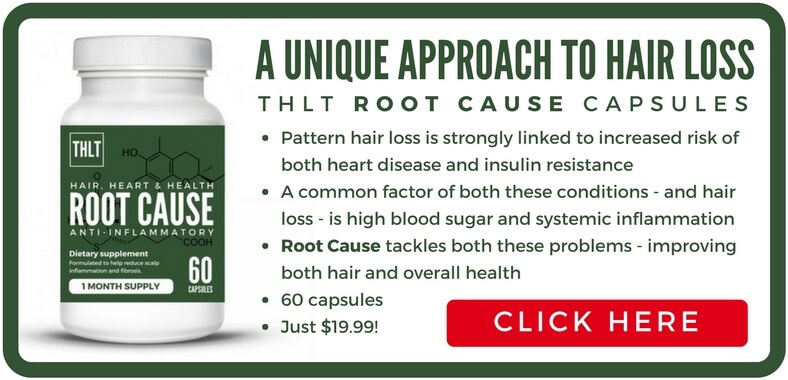 root cause treatment advert - reduce inflammation and fibrosis for improved heart health and reduced hair loss